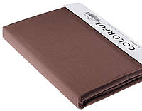 Простыня однотонная 180х240 сатин 05-темно-коричневая