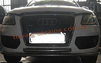 Защита переднего бампера труба двойная на Audi Q5