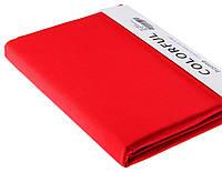 Простыня однотонная 240х260 сатин 18-красный