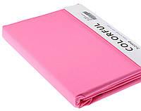 Простыня однотонная 240х260 сатин 12-розовый