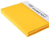 Простыня однотонная 240х260 сатин 09-желтый