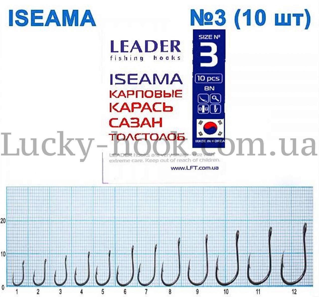 Крючок Leader ISEAMA (карась, сазан, толстолоб) №3