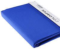 Простыня однотонная 240х260 сатин 11-синий