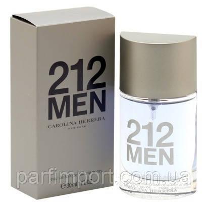 Carolina Herrera 212 MEN EDT 30 ml туалетна вода чоловіча (оригінал оригінал США)