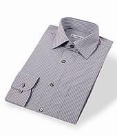Приталенная мужская рубашка в полоску