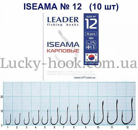 Крючок Leader ISEAMA (карась, сазан, толстолоб) №12, фото 2
