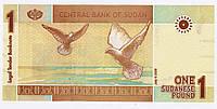 Банкнота Судан 1 фунт 2006, фото 1