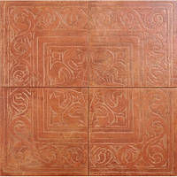 Керамогранит STILE RAX22 Декор з 4-х плиток ROSSO COTTO CLASSICO 65х65 см