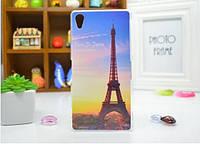 Силиконовый бампер чехол для Sony Xperia Z2 D6503 с рисунком Париж