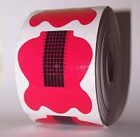 Формы  для наращивания ногтей (красные) 500 шт