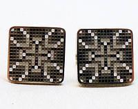 Запонки крест с эмалями, мужские