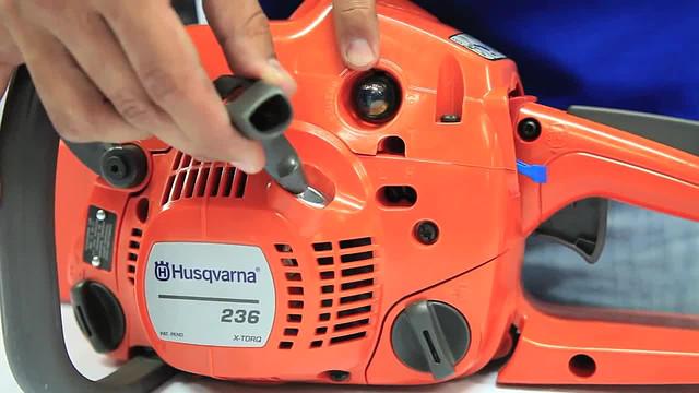 Бензиновая пила Husqvarna-236: прймер для подкачки топлива