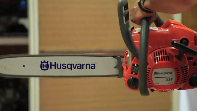 Бензиновая пила Husqvarna-236: в работе