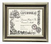 Сертификат подарочный, на разработку