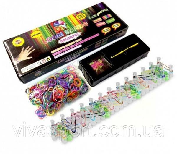 Резинки для плетения браслетов Loom Bands, набор резинок 600 шт. Лум Бэндс