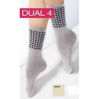Высокие носочки с двойным отворотом и ажурным рисунком
