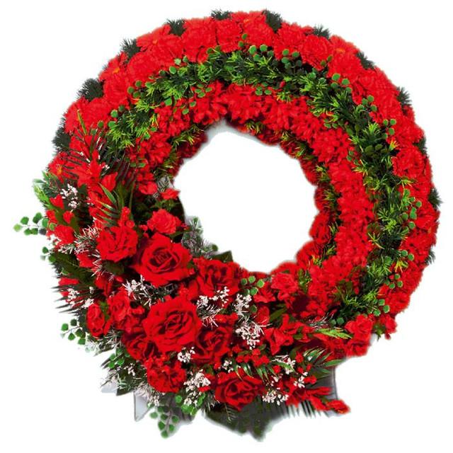 Венки оформленные цветами