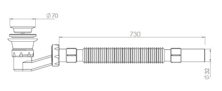 Сифон для душевого поддона AQUANOVA 1621, фото 2
