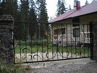 Ворота откатны кованые