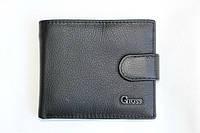 Стильный кожаный кошелек черного цвета Gloss