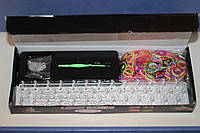 Набор резинок для плетения Loom Bands Colorful  со станком  (600 шт. + маленький крючок) - яркие, однотонные.