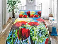 TAC Евро комплект  постельного белья 3D saten Tulip