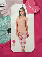 "Комплект для сна женский капри+футболка ""Vienetta"""