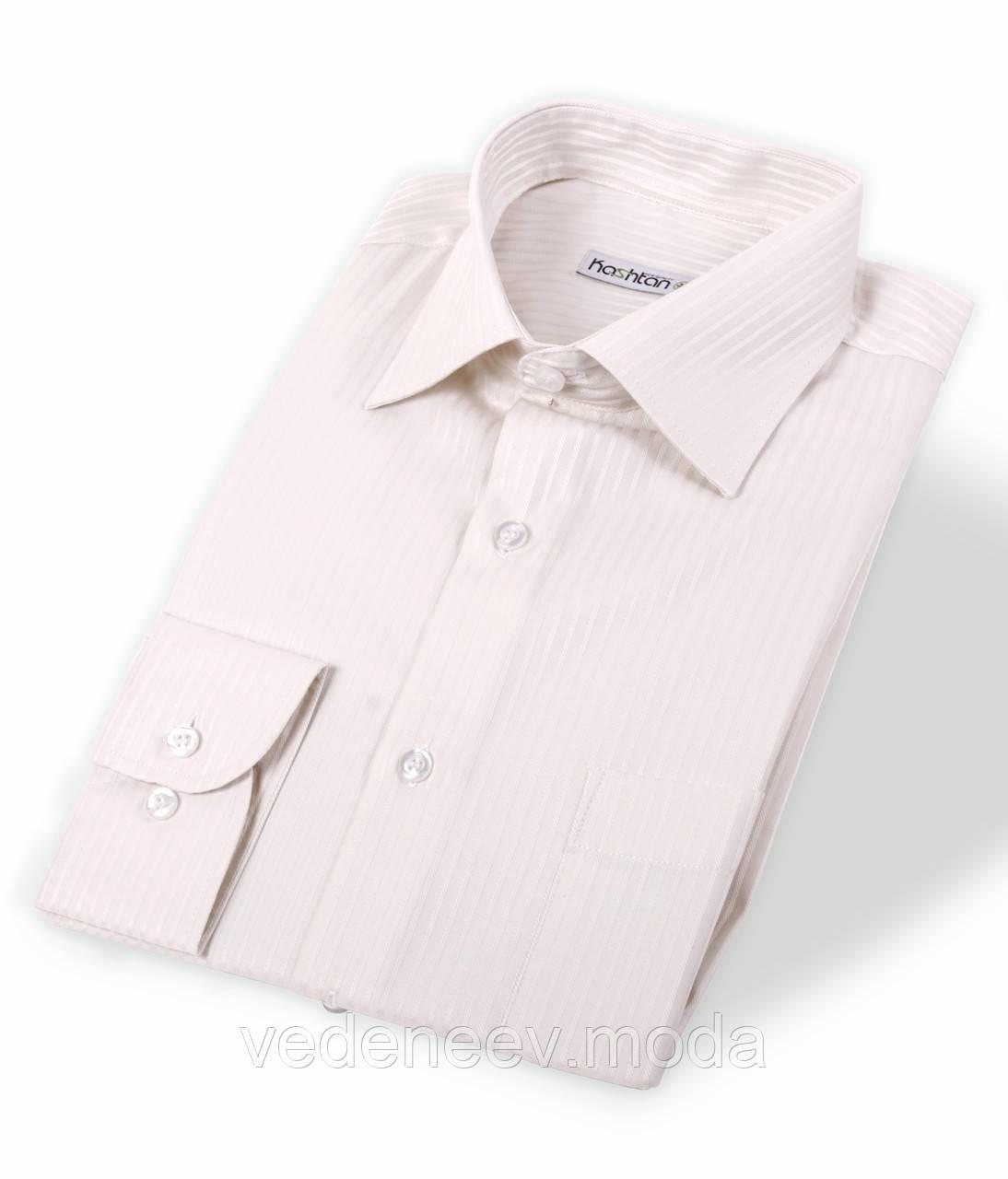 Сиреневая мужская рубашка в полоску