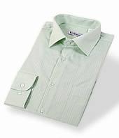 Салатовая мужская рубашка в полоску