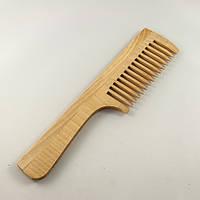 Расческа деревянная с ручкой однорядная