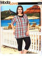 Женская пижама капри батал Турция