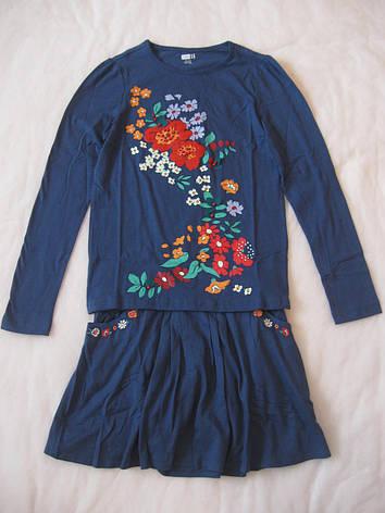 Реглан и юбка для девочки Crazy8 размер XL 14 футболки и юбки, фото 2