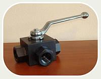Кран блочный 3-ходовой DN12 G1/2 PN500