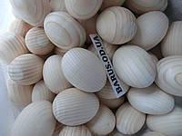 Яйца деревянные заготовка чистые  5*7 см большие