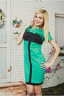 Женское платье с бантом мята