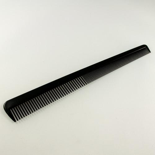 плана расческа черного цвета с комбинированными зубьями