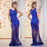 Д282  Вечернее  платье   42-44, Синий