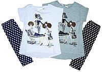 Комплект-двойка для девочки, размеры 4, 6,14, лет, Emma girls, арт. 7687