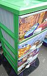 Комод пластиковый Еlif Plastik, с рисунком Тачки, фото 5