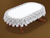 Скатерть жаккардовая 250*150  овальная на обеденный стол