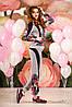 Комфортный стильный спортивный костюм с цветочным принтом, ждя мамы и дочки, 44-50 размеры
