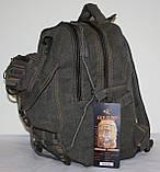 Городской повседневный рюкзак хаки средний, фото 2