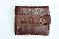 Мужской кошелек из натуральной кожи Levi's