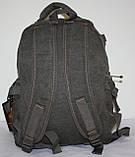 Городской повседневный рюкзак хаки средний, фото 3