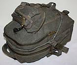 Городской повседневный рюкзак хаки средний, фото 4