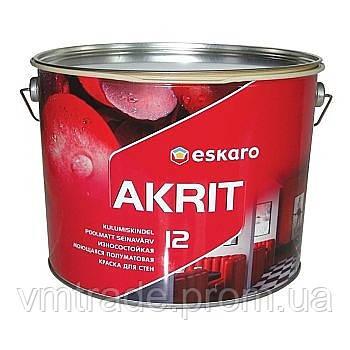 Фарба напівматова Eskaro Akrit 12, 9.5л