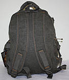 Городской повседневный рюкзак хаки маленький, фото 3