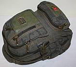 Городской повседневный рюкзак хаки маленький, фото 4