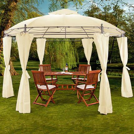 Павильон садовый ART-203, диаметр 350 см, бежевый, фото 2