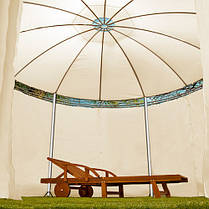 Павильон садовый ART-203, диаметр 350 см, бежевый, фото 3